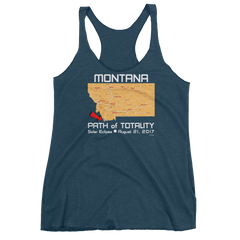 Women's Solar Eclipse Tank Top - Montana - Path of Totality August 21, 2017