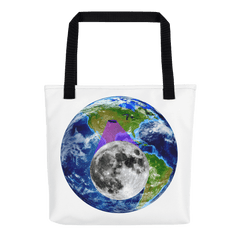 Tote Bag: - Nebraska - Earth/Moon - PATH of TOTALITY Solar Eclipse August 21, 2017