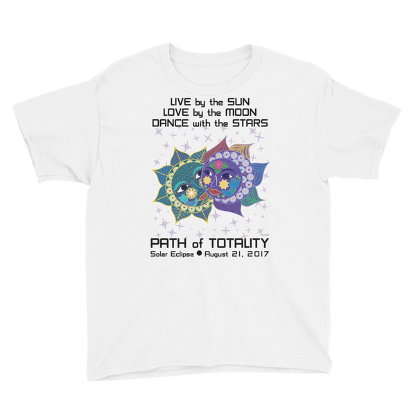 Boys Solar Eclipse Short Sleeve T-Shirt - Anna & Vronsky - Live Love Dance - Path of Totality August 21, 2017