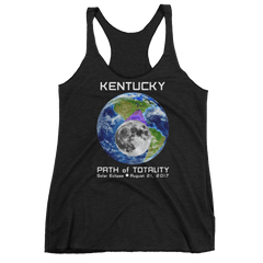 Women's Solar Eclipse Tank Top - Kentucky - Earth/Moon - Path of Totality August 21, 2017