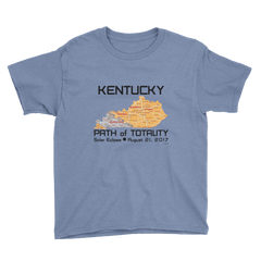 Boys Solar Eclipse Short Sleeve T-Shirt - Kentucky - Path of Totality August 21, 2017