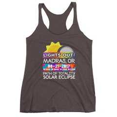 Women's - Madras OR - Solar Eclipse Tank Top: