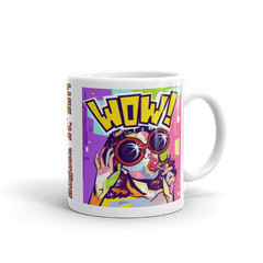 "Solar Eclipse Mug: ""CHERRY POP - Pop Art - PATH of TOTALITY August 21, 2017 (Made in USA)"