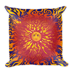 Solar Eclipse Throw Pillow - SUN BLAZE - Path of Totality August 21, 2017
