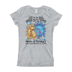 Girls Solar Eclipse Princess T Shirt - Paris & Helen - Live Love Dance Path of Totality August 21, 2017