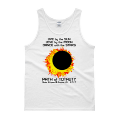 "Men's Tank Top: ""Sun Moon Dance"" LIVE LOVE DANCE PATH of TOTALITY Solar Eclipse August 21, 2017"