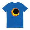 "Men's Short Sleeve T-Shirt:  ""Sun Moon Dance"" PATH of TOTALITY Solar Eclipse August 21, 2017"
