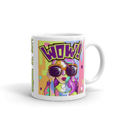 "Solar Eclipse Mug: ""BRANDY POP"" - Pop Art -  PATH of TOTALITY August 21, 2017 (Made in USA)"