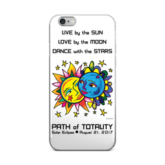 Solar Eclipse iPhone 5/5s/Se, 6/6s, 6/6s Plus Case - Tarzan & Jane - Path of Totality August 21, 2017