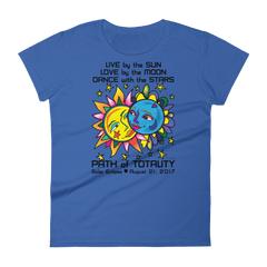 Women's Solar Eclipse Short Sleeve T-Shirt - Tarzan & Jane - Live Love Dance Path of Totality August 21, 2017