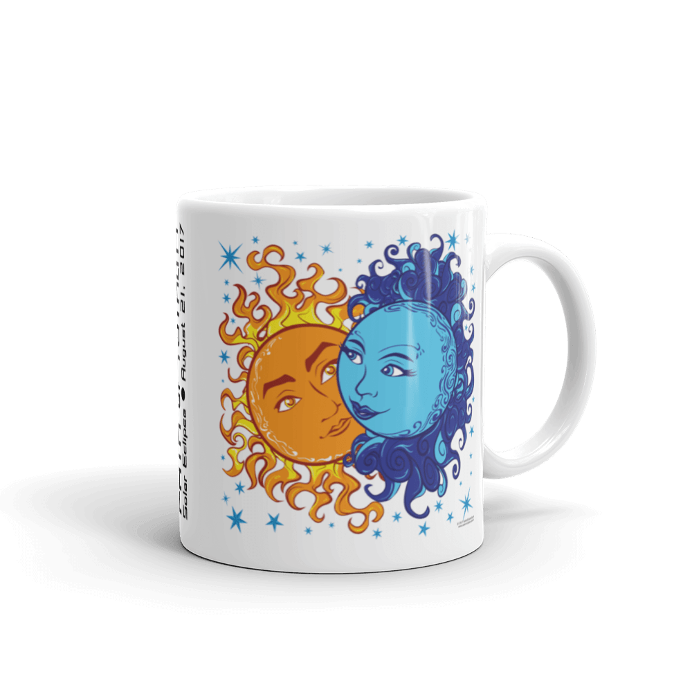 "Solar Eclipse Mug: ""Antony & Cleopatra"" PATH of TOTALITY August 21, 2017 (Made in USA)"