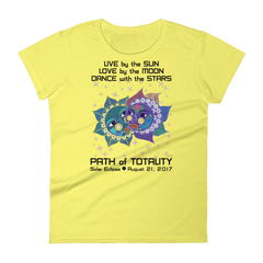 Women's Solar Eclipse Short Sleeve T-Shirt - Anna & Vronsky - Live Love Dance Path of Totality August 21, 2017