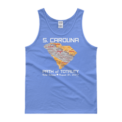 "Men's Tank Top:""South Carolina"" PATH of TOTALITY Solar Eclipse August 21, 2017"