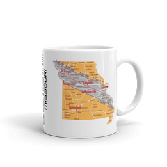 "Solar Eclipse Mug: ""Missouri"" -MAP- PATH of TOTALITY August 21, 2017 (Made in USA)"