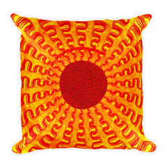 Solar Eclipse Throw Pillow - INFRARED - Path of Totality August 21, 2017