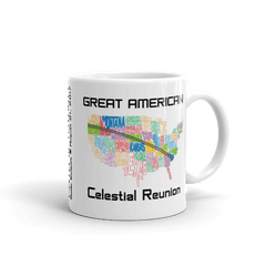 "Solar Eclipse Mug: ""USA02"" PATH of TOTALITY Great American Celestial Reunion August 21, 2017 (Made in USA)"