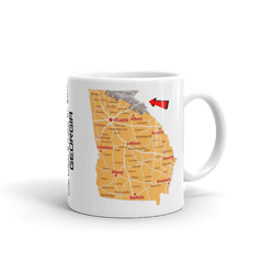 "Solar Eclipse Mug: ""Georgia"" -MAP- PATH of TOTALITY August 21, 2017 (Made in USA)"