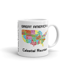 "Solar Eclipse Mug: ""USA04"" PATH of TOTALITY Great American Celestial Reunion August 21, 2017 (Made in USA)"