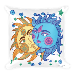 Solar Eclipse Throw Pillow - Paris & Helen of Troy - Path of Totality August 21, 2017