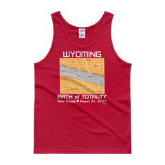 "Men's Tank Top:""Wyoming"" PATH of TOTALITY Solar Eclipse August 21, 2017"