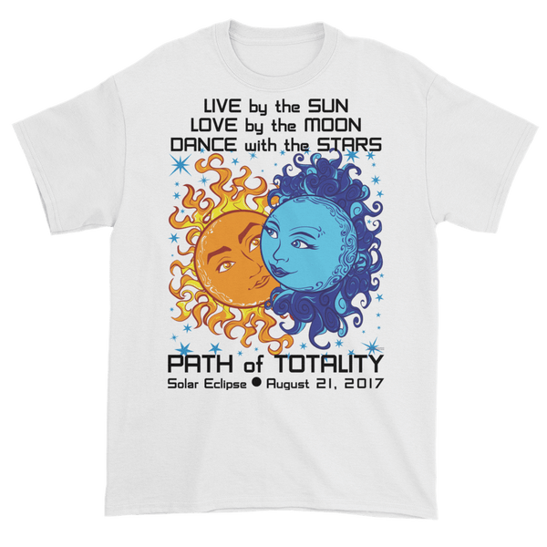 Men's Solar Eclipse Short Sleeve T-Shirt - Antony & Cleopatra - Live Love Dance Path of Totality August 21, 2017