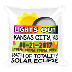 Solar Eclipse Throw Pillow: KANSAS CITY KS PATH of TOTALITY August 21, 2017