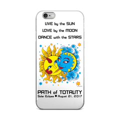 Solar Eclipse iPhone 5/5s/Se, 6/6s, 6/6s Plus Case - Diego & Frida - Path of Totality August 21, 2017