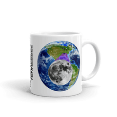 "Solar Eclipse Mug: ""Tennessee"" -Earth/Moon- PATH of TOTALITY August 21, 2017 (Made in USA)"