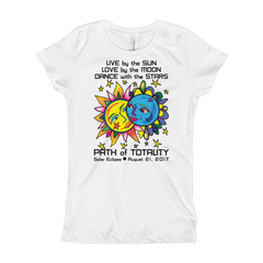 Girls Solar Eclipse Princess T Shirts - Tarzan & Jane - Live Love Dance Path of Totality August 21, 2017