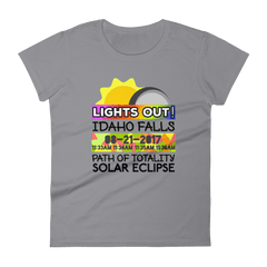 Women's - Idaho Falls ID - Solar Eclipse Short Sleeve T-Shirt: