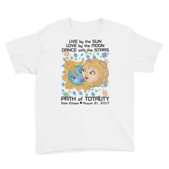 Boys Solar Eclipse Short Sleeve T-Shirt - Krishna & Radha - Live Love Dance Path of Totality August 21, 2017