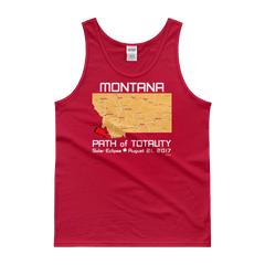 "Men's Tank Top:""Montana"" PATH of TOTALITY Solar Eclipse August 21, 2017"