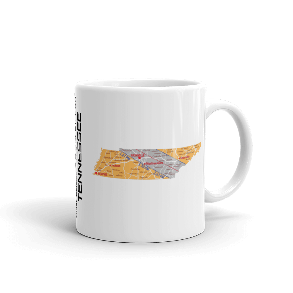 "Solar Eclipse Mug: ""Tennessee"" PATH of TOTALITY August 21, 2017 (Made in USA)"