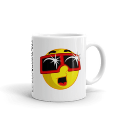 "Solar Eclipse Mug: ""EMOJI w/ ECLIPSE GLASSES"" PATH of TOTALITY August 21, 2017 (Made in USA)"