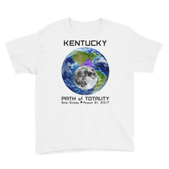 Boys' Solar Eclipse Short Sleeve T-Shirt - Kentucky- Earth/Moon - Path of Totality August 21, 2017