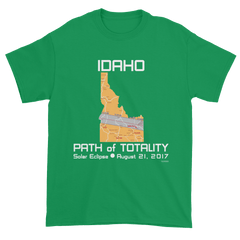 Men's Solar Eclipse Short Sleeve T-Shirt - Idaho - Path of Totality August 21, 2017