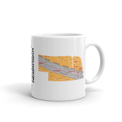"Solar Eclipse Mug: ""Nebraska"" PATH of TOTALITY August 21, 2017 (Made in USA)"