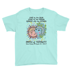 Boys Solar Eclipse Short Sleeve T-Shirt - Phillip & Aurora - Live Love Dance Path of Totality August 21, 2017