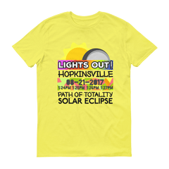 Men's - Hopkinsville KY - Solar Eclipse Short Sleeve T-Shirt: