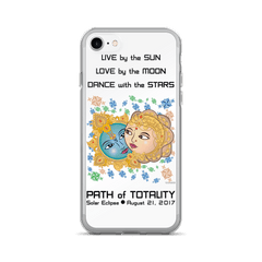 Solar Eclipse iPhone 7/7 Plus Case - Krishna & Radha - Path of Totality August 2017