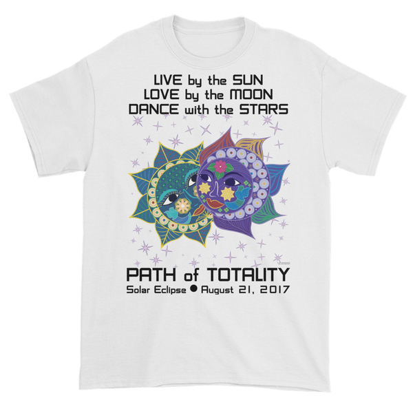 Men's Solar Eclipse Short Sleeve T-Shirt - Anna & Vronsky - Live Love Dance Path of Totality August 21, 2017
