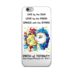 Solar Eclipse iPhone 5/5s/Se, 6/6s, 6/6s Plus Case - Han & Leia - Path of Totality August 21, 2017