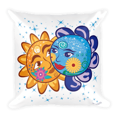 Solar Eclipse Throw Pillow -Cinderella & Charming - Path of Totality August 21, 2017