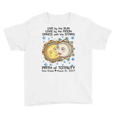 Boys Solar Eclipse Short Sleeve T-Shirt - Romeo & Juliet - Live Love Dance Path of Totality August 21, 2017