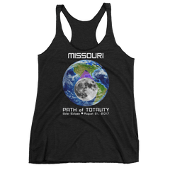 Women's Solar Eclipse Tank Top - Missouri - Earth/Moon - Path of Totality August 21, 2017