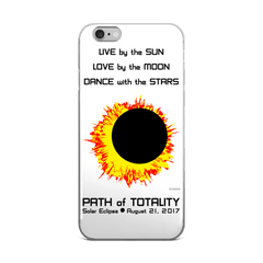 Solar Eclipse iPhone 5/5s/Se, 6/6s, 6/6s Plus Case - Sun Moon Dance - Path of Totality August 21, 2017