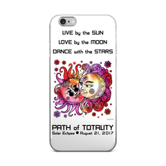 Solar Eclipse iPhone 5/5s/Se, 6/6s, 6/6s Plus Case - John & Yoko - Path of Totality August 21, 2017