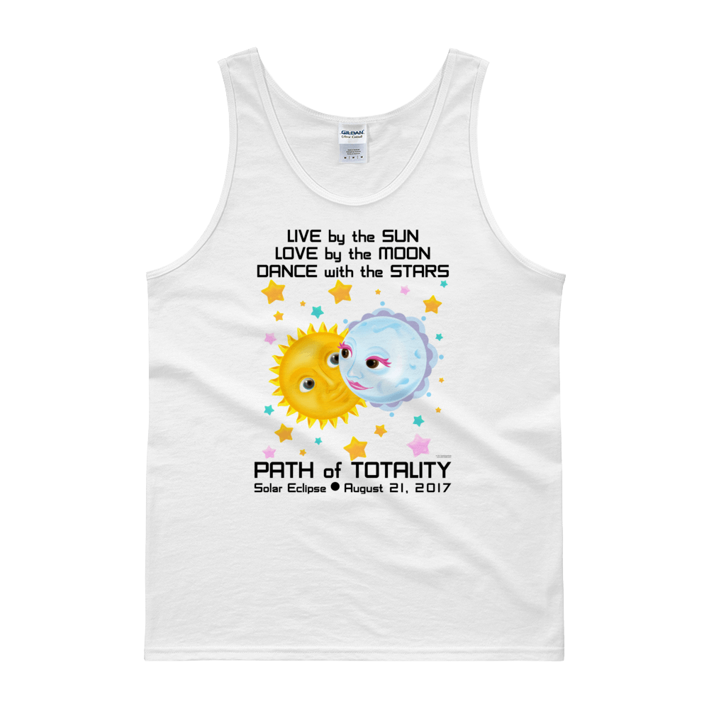 "Men's Tank Top: ""Kristoff & Anna"" LIVE LOVE DANCE PATH of TOTALITY Solar Eclipse August 21, 2017"