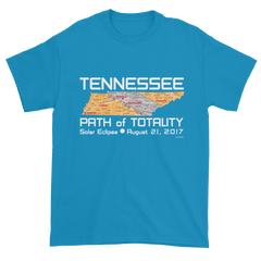 Men's Solar Eclipse Short Sleeve T-Shirt - Tennessee - Path of Totality August 21, 2017