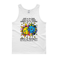 "Men's Tank Top:  ""Tarzan & Jane"" LIVE LOVE DANCE PATH of TOTALITY Solar Eclipse August 21, 2017"